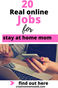 real online job for stay at home mom