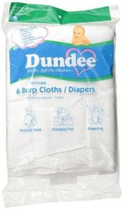 burp cloths or diapers