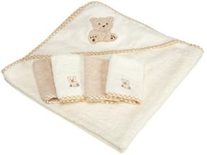 Terry cotton hooded towel