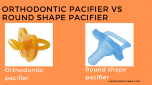 orthodontic pacifier vs round shaped pacifer