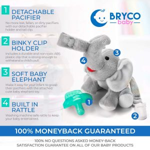Bryco Baby Elephant Pacifier Holder