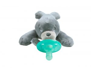 avent pacifier with stuffed animal