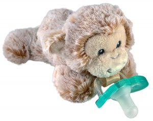 stuffed animal pacifier holder