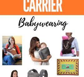 Different types of baby carriers