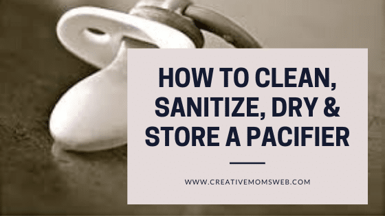 How to clean a pacifier